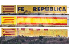 Guerra de murales en Bellpuig al intentar borrar el lema soberanista