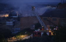 Incendio en el almacén de un molino de aceite de Les Borges