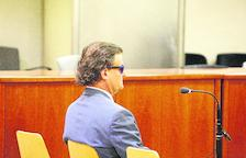Pere Rubinat Forcada, al banc de l'Audiència de Lleida.