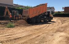 Habilitan un patio para el nuevo instituto de Torrefarrera