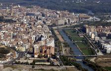Imatge d'arxiu de la vista aèria de Lleida.