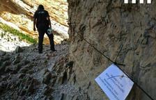 El tramo del congosto en Sant Esteve permanecerá cerrado hasta tener más certificaciones.