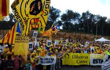 Forcadell, trasladada a una prisión de Tarragona y arropada por ANC y Òmnium