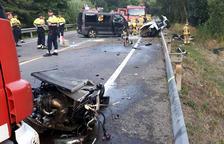 Mueren en Vidreres los 4 jóvenes de un coche en un choque frontal
