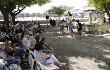 Alumnes de l'escola La Bassa van representar la llegenda.