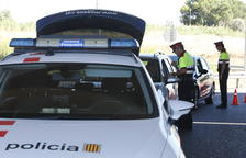 Imatge d'arxiu d'un control de trànsit dels Mossos d'Esquadra a Lleida.