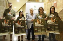 Organitzadors i autoritats, ahir a la Diputació després de presentar el Festival de la Granadella.