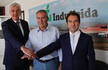 Xavier Roé, Jaume Gené i Marià Sorribas, a Indulleida.