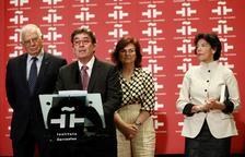 El poeta y catedrático Luis García Montero, ayer en su toma de posesión como director del Cervantes.