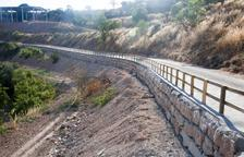 Muro de contención para asegurar el acceso a Talavera