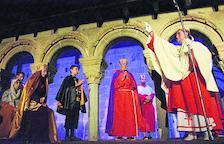 Una de les escenes del muntatge dedicat a sant Ermengol, que va ser bisbe de la Seu entre els anys 1010 i 1035.