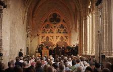 Actuación del conjunto O vos Omnes ayer en Vallfogona.