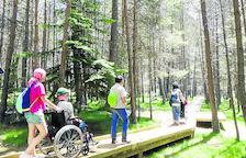 El Parc Natural de l'Alt Pirineu, amb més itinerari per a persones en cadira de rodes