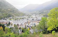 Imagen de archivo de una vista de Vielha.