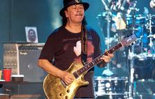 El guitarrista mexicà Carlos Santana, durant la seua actuació al Festival de Peralada.
