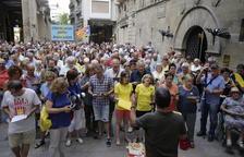 Els cantaires van tornar a donar-se cita ahir a Lleida per demanar l'alliberament dels presos.