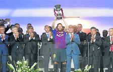Leo Messi va aixecar diumenge a Tànger el primer títol com a capità del FC Barcelona.