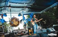 Un concierto que ofreció el cantautor Ramon Martí, Fustegueres, en el festival Paupaterres.