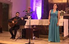 Un moment del concert de Natalia Labourdette i Javier García.