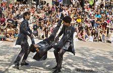 Un espectacle de carrer en una edició anterior de FiraTàrrega