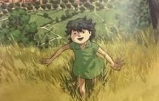 Uno de los dibujos del cómic, con Lola i Isona en el fondo.