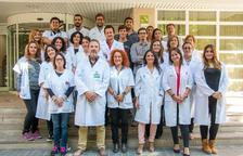 Foto de familia de los investigadores de Lleida, liderados por el doctor Ferran Barbé.