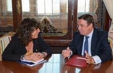 La consellera d'Agricultura, Teresa Jordà, i el ministre Luis Planas s'han reunit aquest dimecres a Madrid
