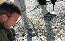 Rescaten un mussol d'una bassa de purins de la Floresta
