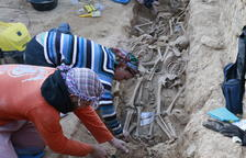 La de El Solèras, con más de un centenar de restos, es la fosa más grande exhumada en Catalunya.