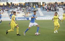 Pedro Martín, en una acció al primer partit de Lliga.