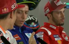Márquez estén la mà a Rossi i l'italià la hi nega