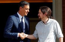 Pedro Sánchez i Pablo Iglesias, abans d'entrar a la Moncloa.