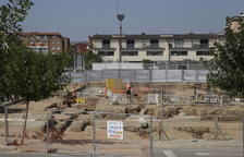 Las obras de construcción del instituto de Torrefarrera.