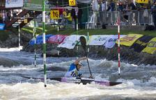 Maialen Chourraut, durant la seua participació d'ahir al Parc del Segre, que li va valer una medalla de plata.