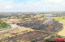 Un incendio calcina 33.000 metros cuadrados de vegetación en Butsènit