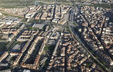 Vista aérea del barrio de Pardinyes de Lleida.