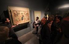 El frontal románico de Tresserra, la obra más valorada, en una foto de archivo de una visita guiada.
