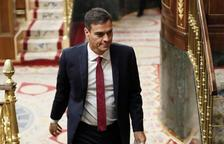 Pedro Sánchez entra a l'hemicicle del Congrés
