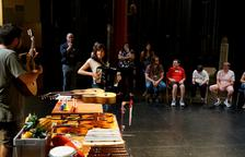 Un momento del taller que tuvo lugar ayer en el Teatre Municipal de Balaguer.