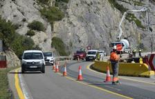 Cortes de tráfico en la C-14 por las obras de Tres Ponts