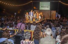La passarel·la de moda que es va instal·lar al parc de la Transsegre de Balaguer.