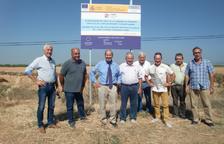 A punt les obres per al reg de Bolós i Fenollet, a Almenar