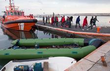 Un total de 456 inmigrantes, rescatados en diez pateras