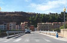 El pont de Sant Miquel, que dóna accés a la carretera d'Àger.