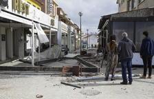 El huracán tocó tierra en la península ibérica en Figueira da Foz, donde el viento llegó a los 176 kilómetros por hora.
