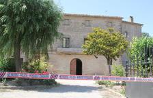 Imatge de la façana de la masia de Gàver en què es van produir els dos atracaments.