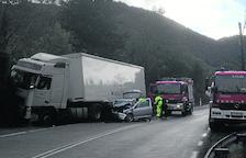 Ferida de gravetat al Pont de Suert en l'enèsim accident a l'N-230