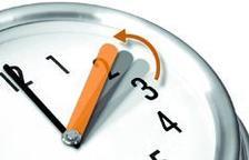 Amb al canvi a l'horari d'hivern el rellotge s'endarrereix una hora.