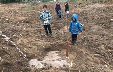 Voluntarios plantan más de doscientos árboles en el Aiguabarreig Segre-Cinca