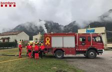 Bomberos hacen prácticas de fuegos en industrias en el Solsonès
